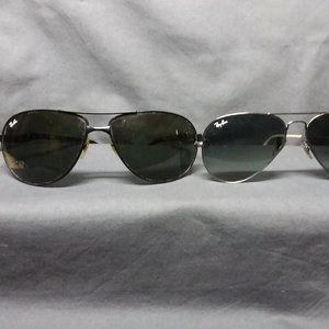 2 Pair Men's Ray Ban Sunglasses Used